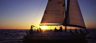 sunset tour at sailing charter curacao